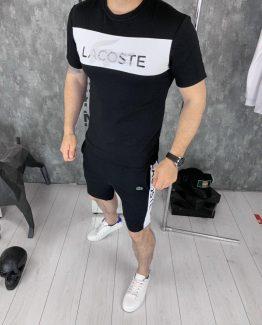 Мужской костюм футболка и шорты Lacoste фото
