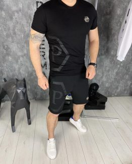 Мужской костюм футболка и шорты Philipp Plein фото