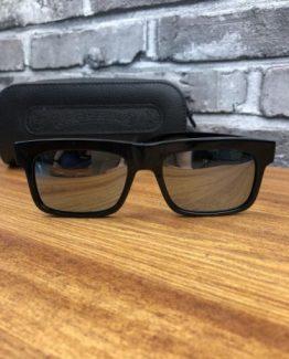 Брендовые очки Polaroid Chrome Hearts черные фото