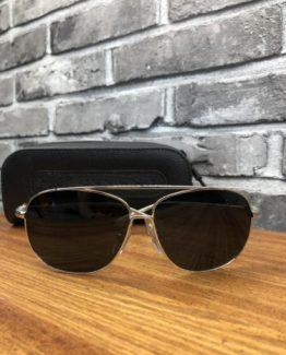 Брендовые очки авиаторы Chrome Hearts черные фото