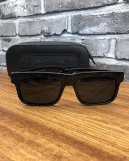 Мужские брендовые солнечные очки Chrome Hearts черные фото