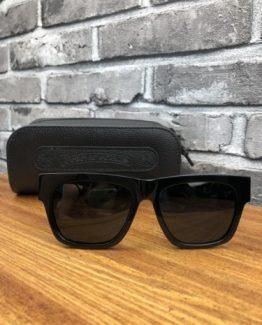 Квадратные очки Chrome Hearts черные фото