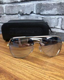 Мужские брендовые очки авиаторы Chrome Hearts фото