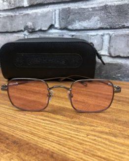Мужские квадратные очки Chrome Hearts розовые фото