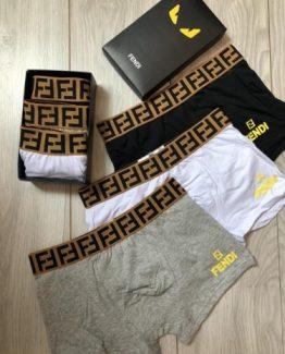 Комплект брендовых мужских трусов Fendi фото