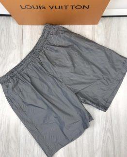 Мужские брендовые шорты Armani серые фото