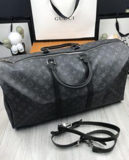 Мужская сумка для ношения в руках Louis Vuitton кожаная серая фото