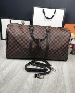 Мужская сумка для ношения в руках Louis Vuitton кожаная коричневая фото