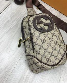 Мужская брендовая сумка на пояс Gucci фото