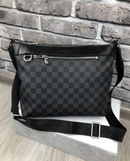 Мужская деловая сумка Louis Vuitton черная фото