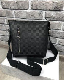 Мужская деловая сумка Louis Vuitton шахматка фото