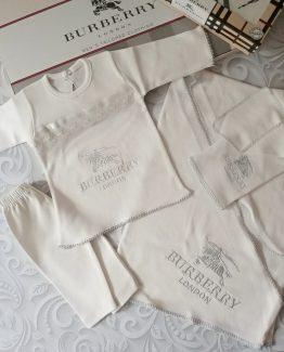 Комплект для новорожденных Burberry 5 предметов 000.4244 фото