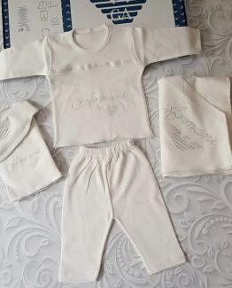 Комплект для новорожденных Armani белый 000.4238 фото