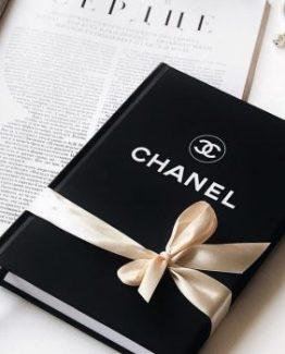 Брендовый ежедневник Chanel Black черный фото