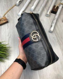 Мужская сумка для ношения в руках Gucci серая 000.4175 фото