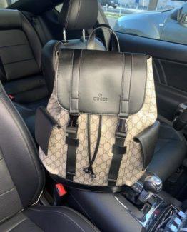 Мужские рюкзаки городские Gucci коричневые 000.4359 фото