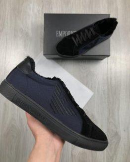 Мужские кроссовки Armani синие 000.4794 фото