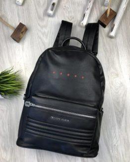 Мужские рюкзаки городские Philipp Plein черные 000.4360 фото