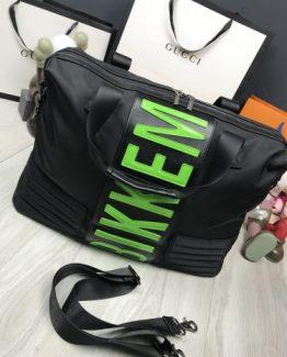 Спортивные сумки Bikkembergs мужские черно-зеленые 000.4351 фото