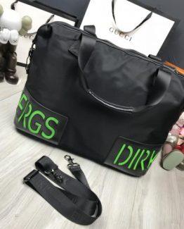 Дорожные сумки Bikkembergs мужские черно-зеленые 000.4369 фото