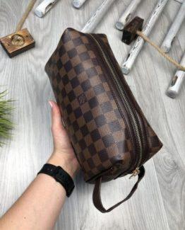 Мужская косметичка Louis Vuitton коричневая 000.4432 фото