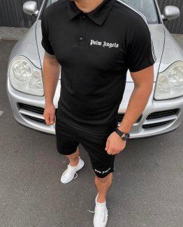 Мужской спортивный костюм летний Palm Angels черный 000.4894 фото