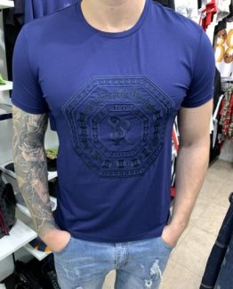 Мужская футболка STEFANO RICCI синяя 000.5123 фото