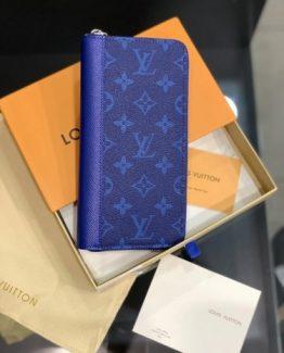 Мужское портмоне LOUIS VUITTON синий монограмм 000.4904 фото
