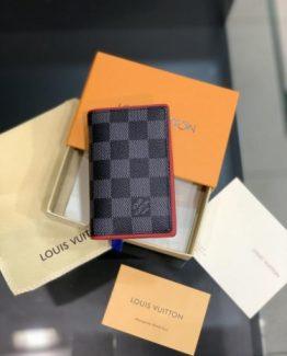 Мужской бумажник LOUIS VUITTON серый 000.4916 фото