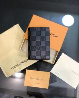 Мужской бумажник LOUIS VUITTON шахматка 000.4933 фото