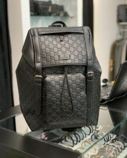 Мужской кожаный рюкзак GUCCI с крышкой 000.4972 фото