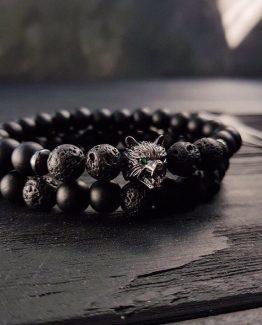Мужские браслеты из натуральных камней DOUBLE MAD WOLF 000.5171 фото