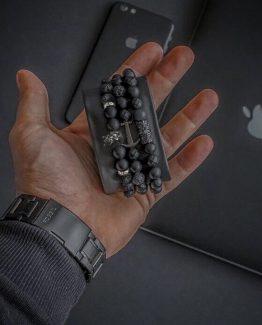 Мужские браслеты из натуральных камней KING LEONEL 000.5167 фото