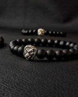 Мужские браслеты из натуральных камней LION SILVER 000.5180 фото