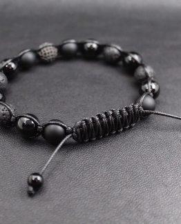 Мужские браслеты из натуральных камней SHAMBALLA || BLACK GENESIS 000.5177 фото