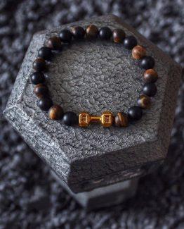 Мужские браслеты из натуральных камней FIT LIFE GOLD 000.5178 фото