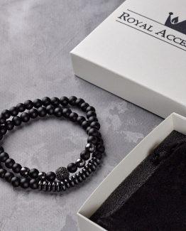 Мужские браслеты из натуральных камней DOUBLE MINIMALIST 000.5175 фото