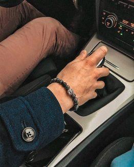 Мужские браслеты из натуральных камней SILVER LION 000.5174 фото