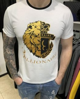 Мужская футболка поло BILLIONAIRE белая 000.5162 фото